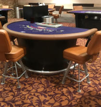 Mount Airy Casino  Seating and Table Rails